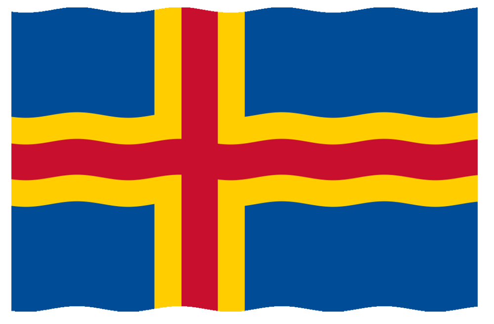 Ålands officiella flagga