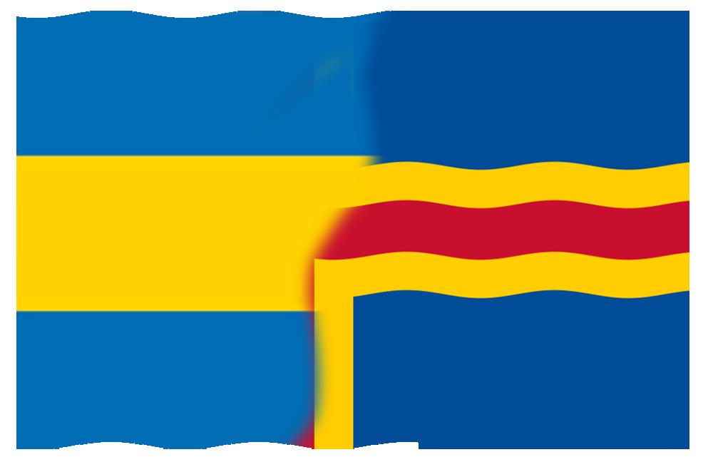 Mix av Ålands Flagga 1922 och 1954